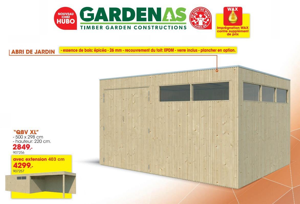 Promotion Hubo: Abri De Jardin Qbv Xl - Gardenas (Jardin Et ... pour Abris Jardin Hubo