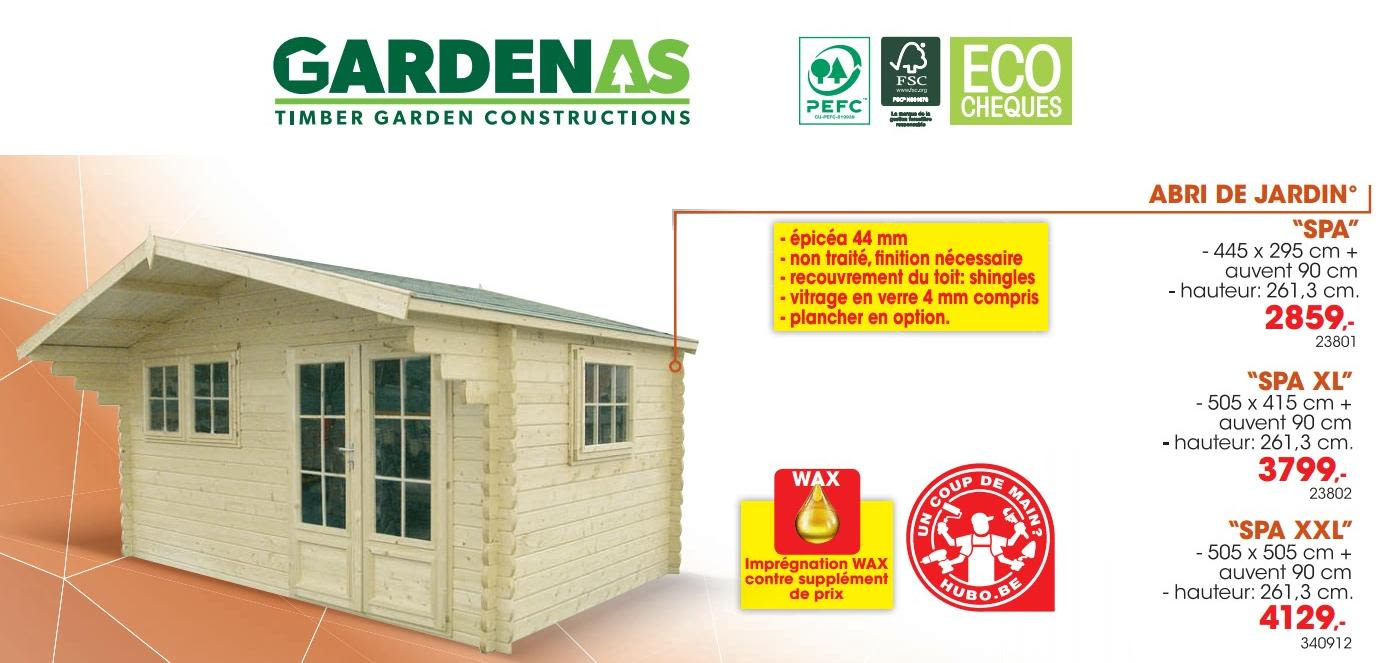 Promotion Hubo: Abri De Jardin Spa - Gardenas (Jardin Et ... concernant Abris Jardin Hubo