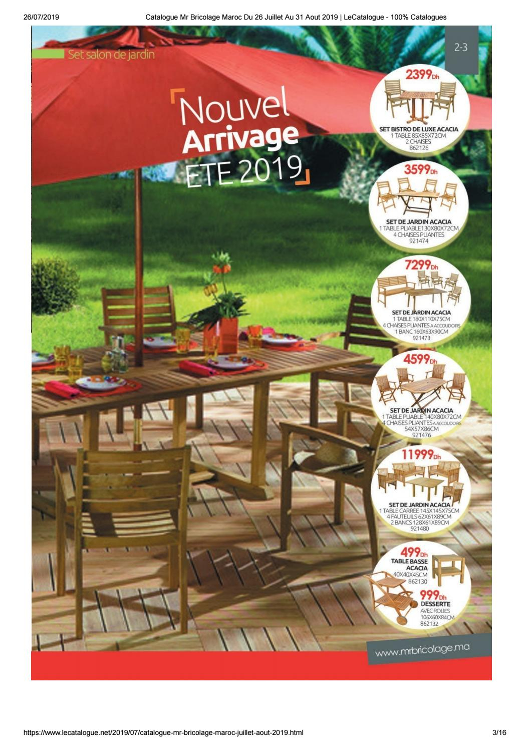 Promotion Set De Jardin Acacia pour Abri De Jardin Mr Bricolage