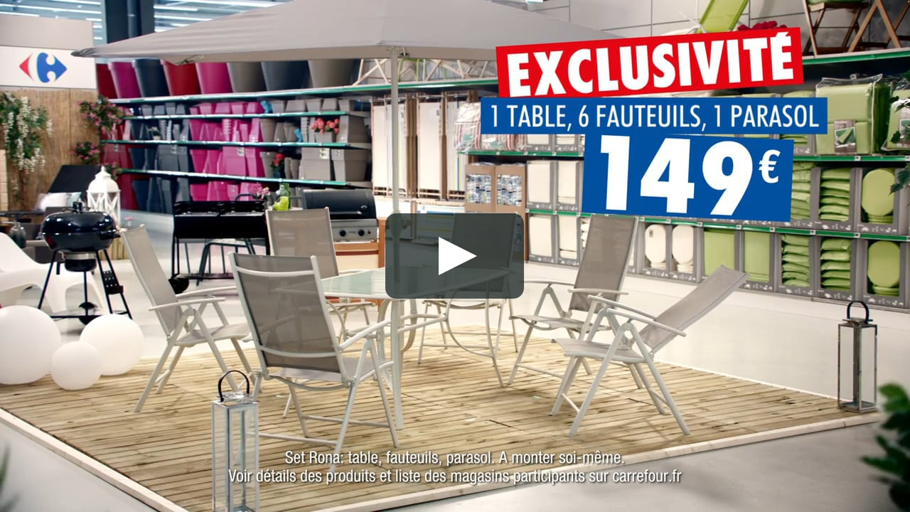 Pub Carrefour 2017 - Mobilier De Jardin Rona - Exclusité Carrefour pour Fauteuil De Jardin Carrefour