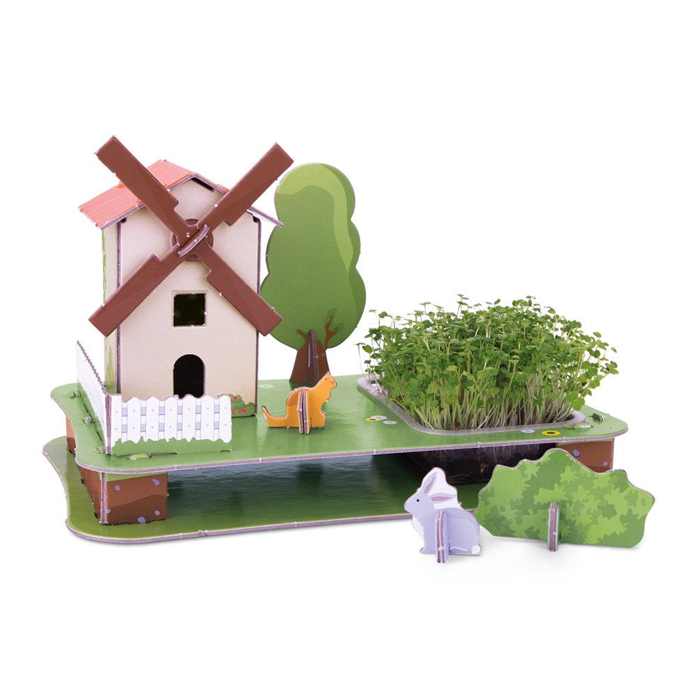 Puzzle Jardin 3D - Moulin À Vent concernant Moulin À Vent De Jardin