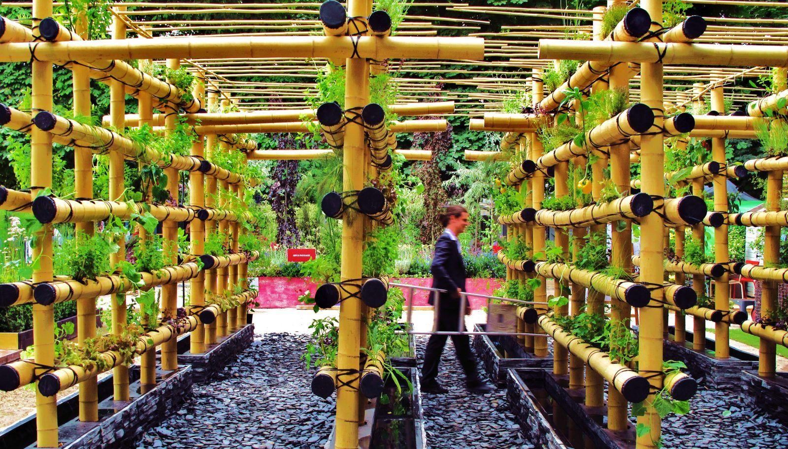 Quand Le Potager Urbain S'invite En Ville … | Rondino ... concernant Echafaudage De Jardin