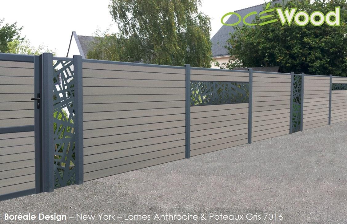 Range Boreale Design Fencing :: Ocewood Manufacturer Of ... à Clotures De Jardin