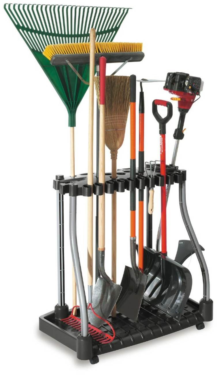 Range Outils De Jardin Et Organisation Du Garage avec Range Outils De Jardin