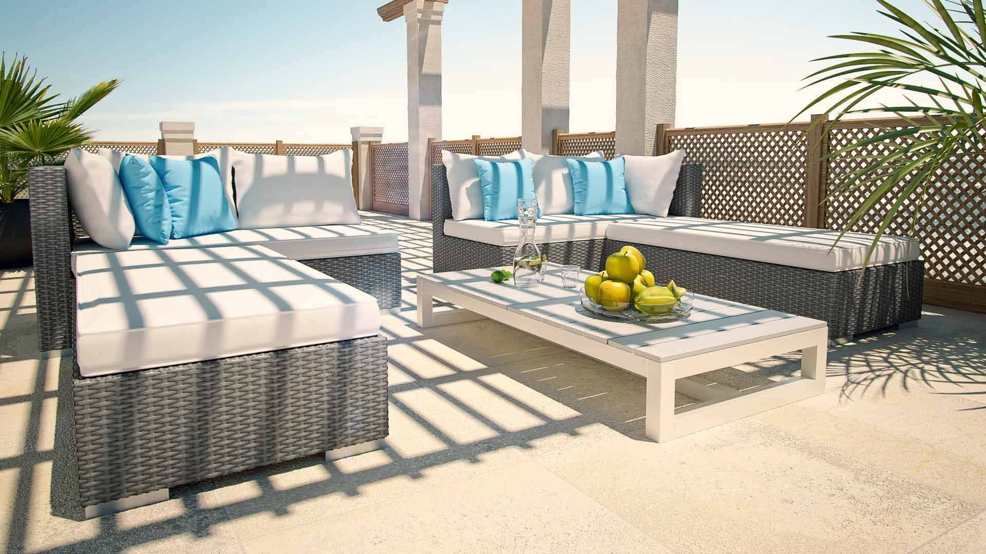 Rattan Couch Safira | Outdoor Furniture Sets, Rattan ... serapportantà Artelia Salon De Jardin