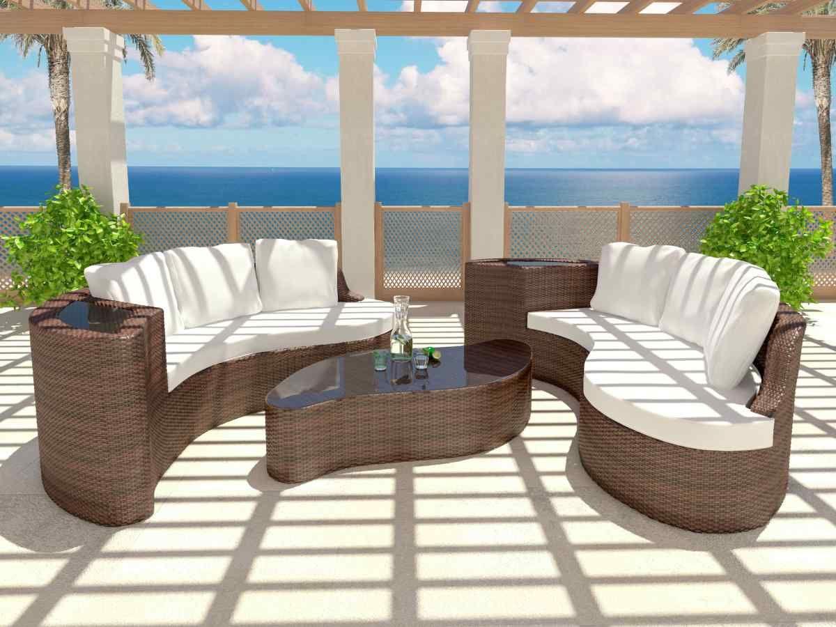 Rattan Island Yamelia   Outdoor Furniture Sets, Rattan ... dedans Salon De Jardin Artelia