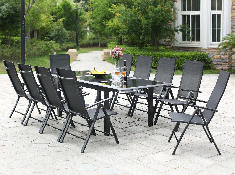 Ravenne 10 serapportantà Table De Jardin Aluminium Et Verre