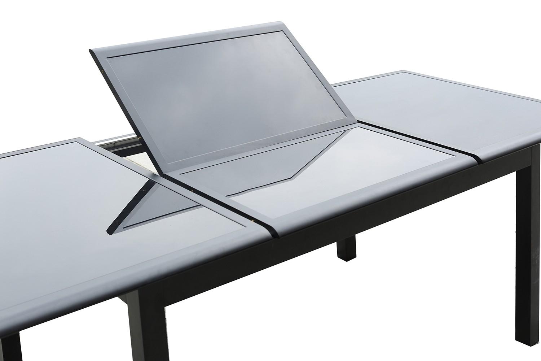 Ravenne 10 serapportantà Table Jardin Aluminium Avec Rallonge