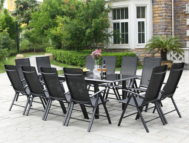Ravenne 12 serapportantà Table Et Chaise De Jardin En Aluminium