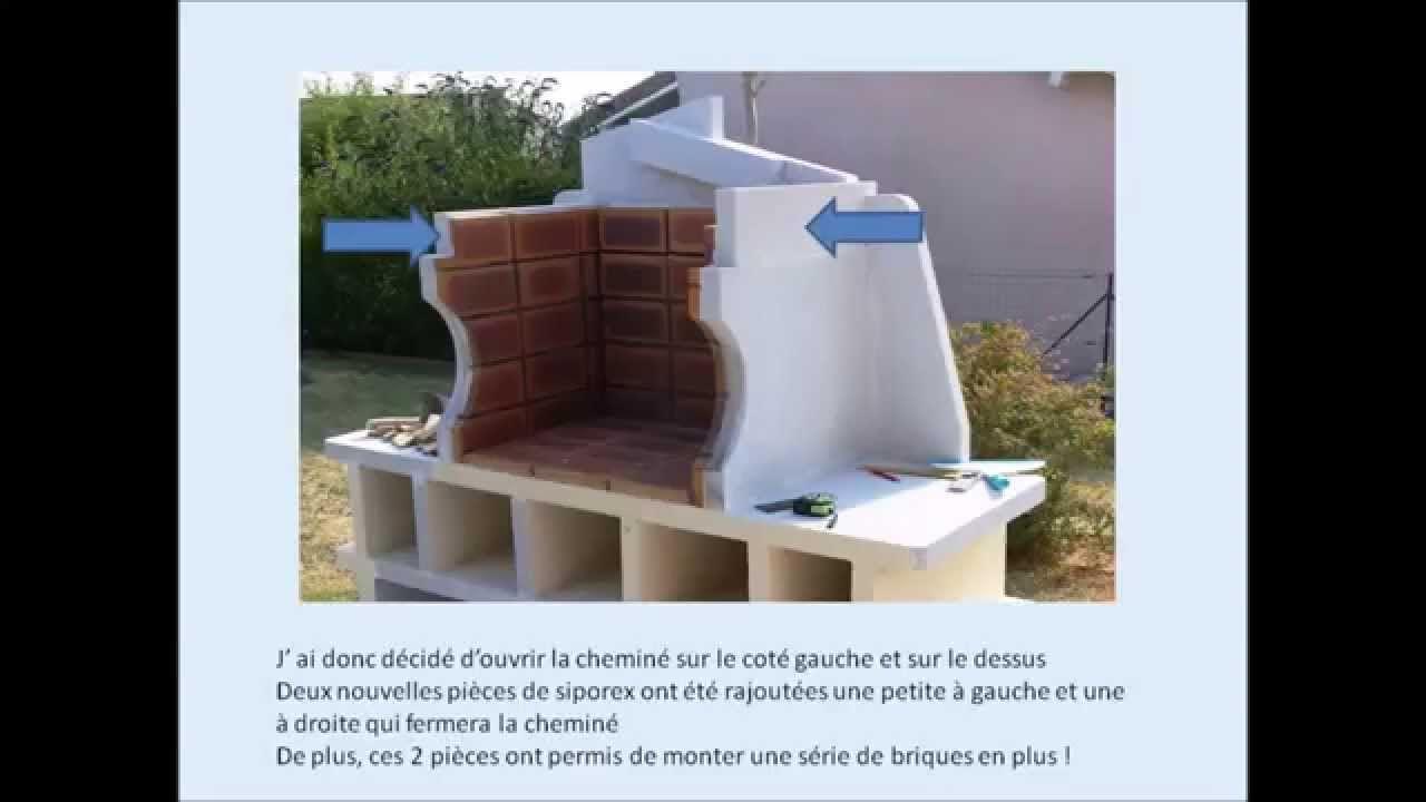 Réaliser Un Barbecue En Siporex Ou Béton Cellulaire ... serapportantà Abri De Jardin En Beton Cellulaire