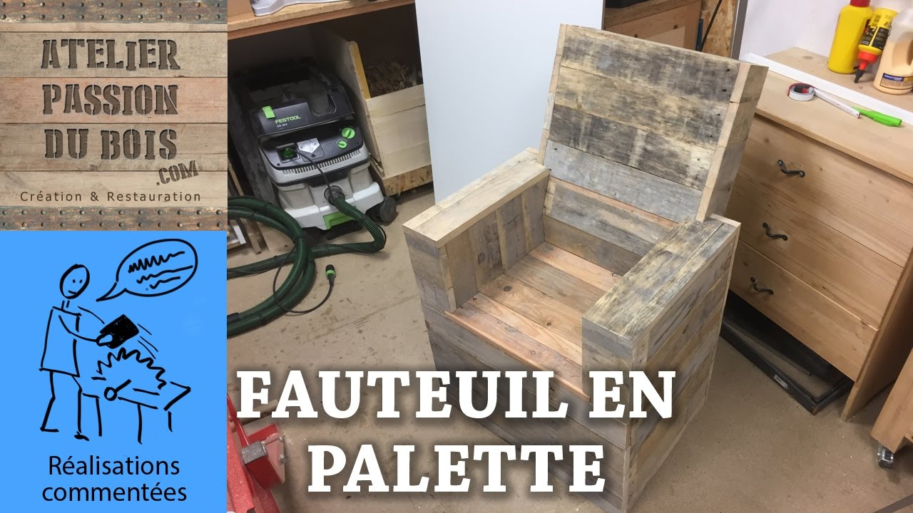 Realiser Un Salon De Jardin En Palette : Un Fauteuil intérieur Fauteuil De Jardin En Bois De Palette