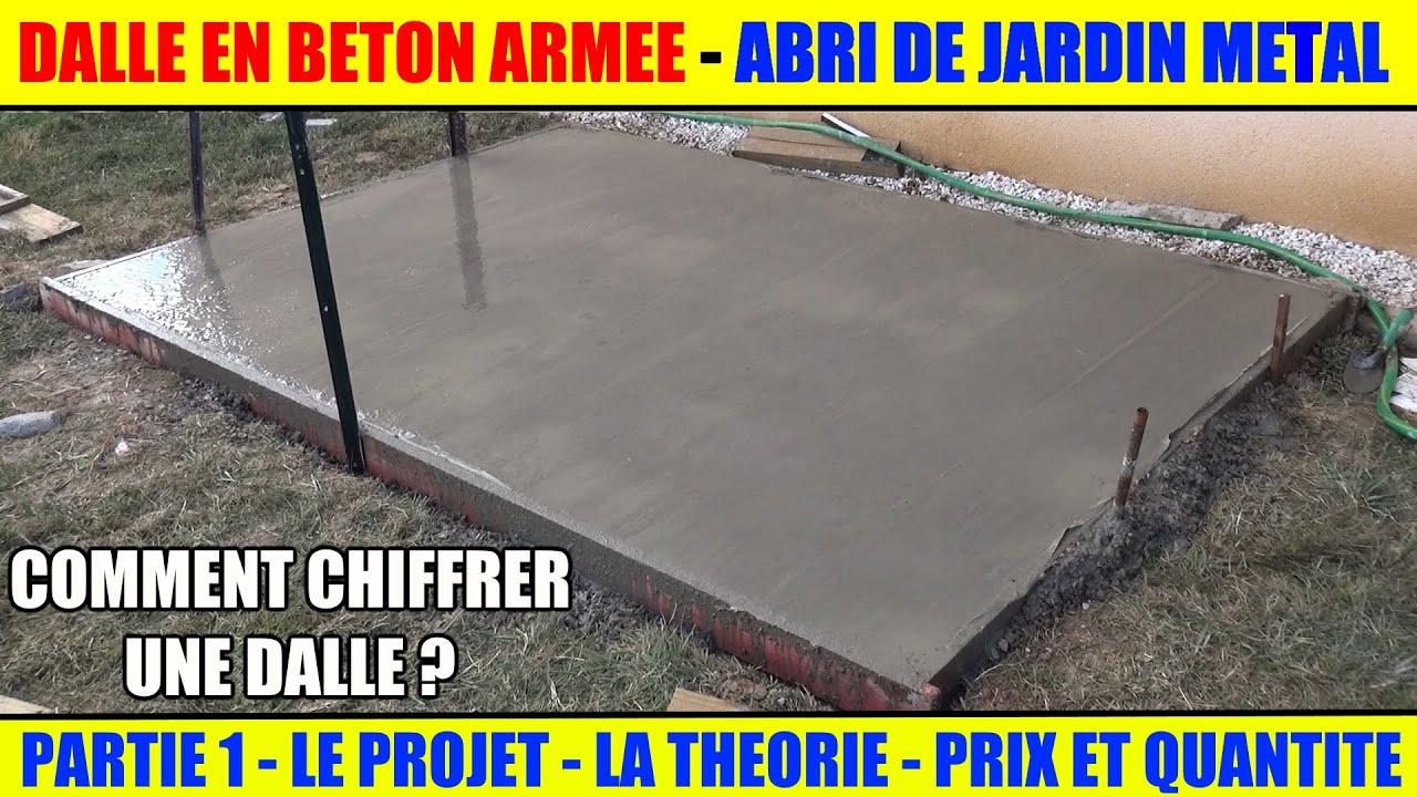 Réaliser Une Dalle Béton Armée Pour Abri De Jardin Métal Arrow avec Abri De Jardin Metal 15M2