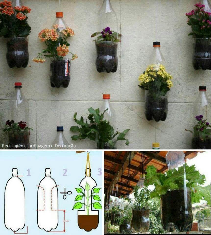 Reciclaje... | Knutselen Recyclage | Jardin Vertical Diy ... tout Idée De Génie Jardin