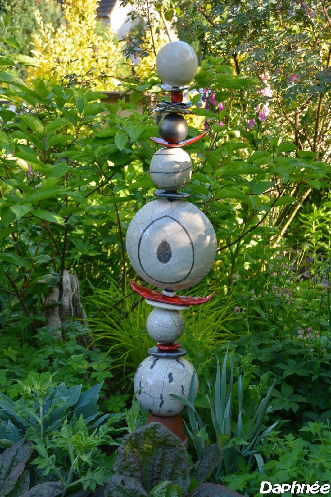 Related Image | Totem | Poterie Jardin, Poterie Y Poterie ... tout Boule Céramique Jardin