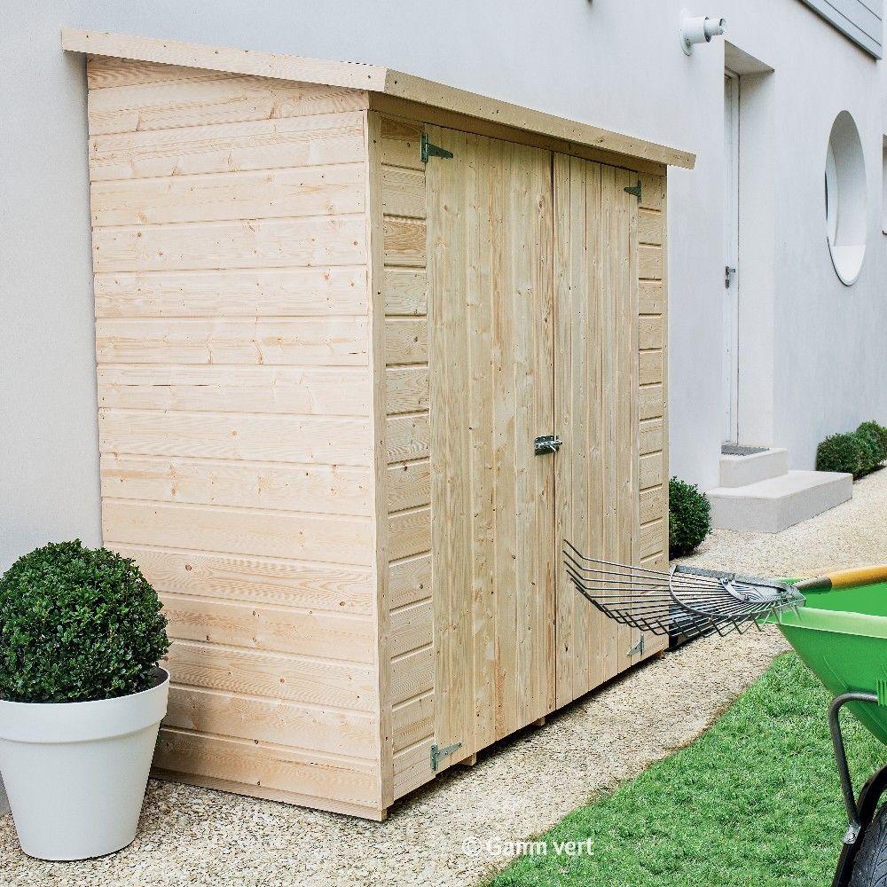Remise Adossée Bois Avec Plancher L170 H180 Cm avec Abris De Jardin Adosse A Un Mur