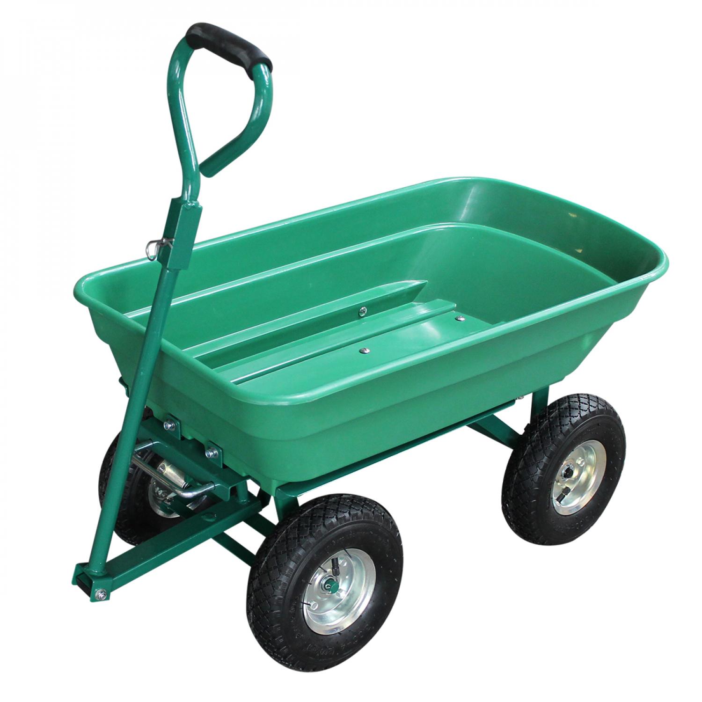 Remorque Chariot De Jardin 52 L - Vert concernant Remorque A Jardin