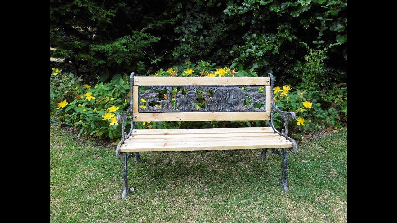Rénover Un Banc De Jardin En Bois à Banc De Jardin Bois Et Fer Forgé
