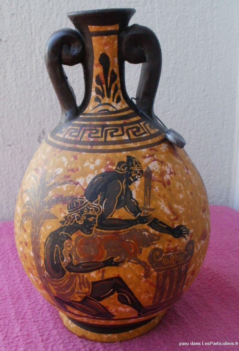 Reproduction Céramique Grecque, Amphore, Char encequiconcerne Amphore De Jardin