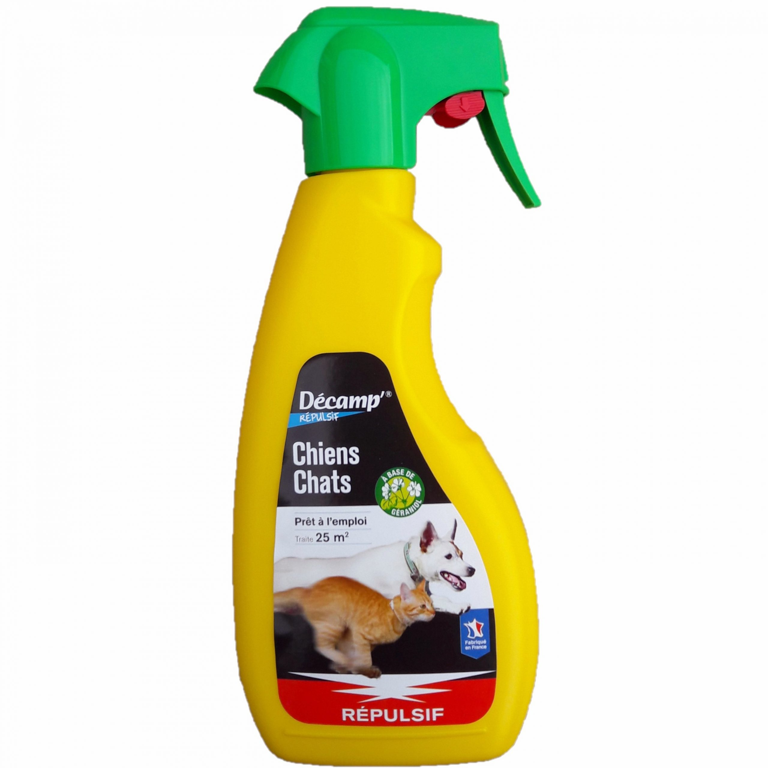 Répulsif Chiens Chats, Spray 500 Ml, Décamp serapportantà Repousse Chat Jardin