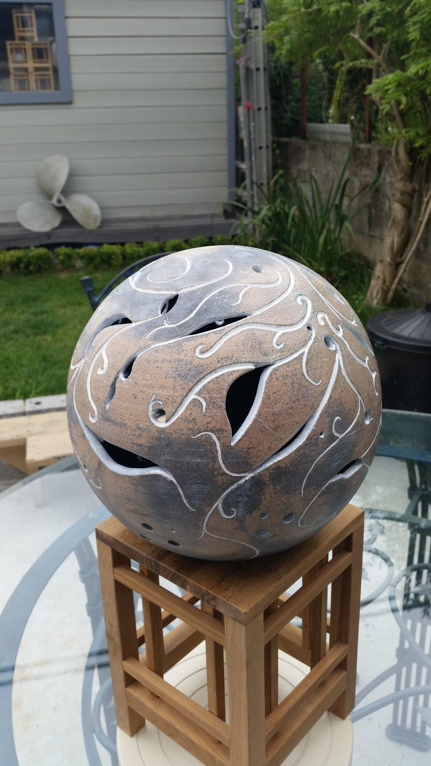 Retrouver Moi Sur Face ( Mon Atelier Raku ) | Idées De ... encequiconcerne Boule Céramique Jardin