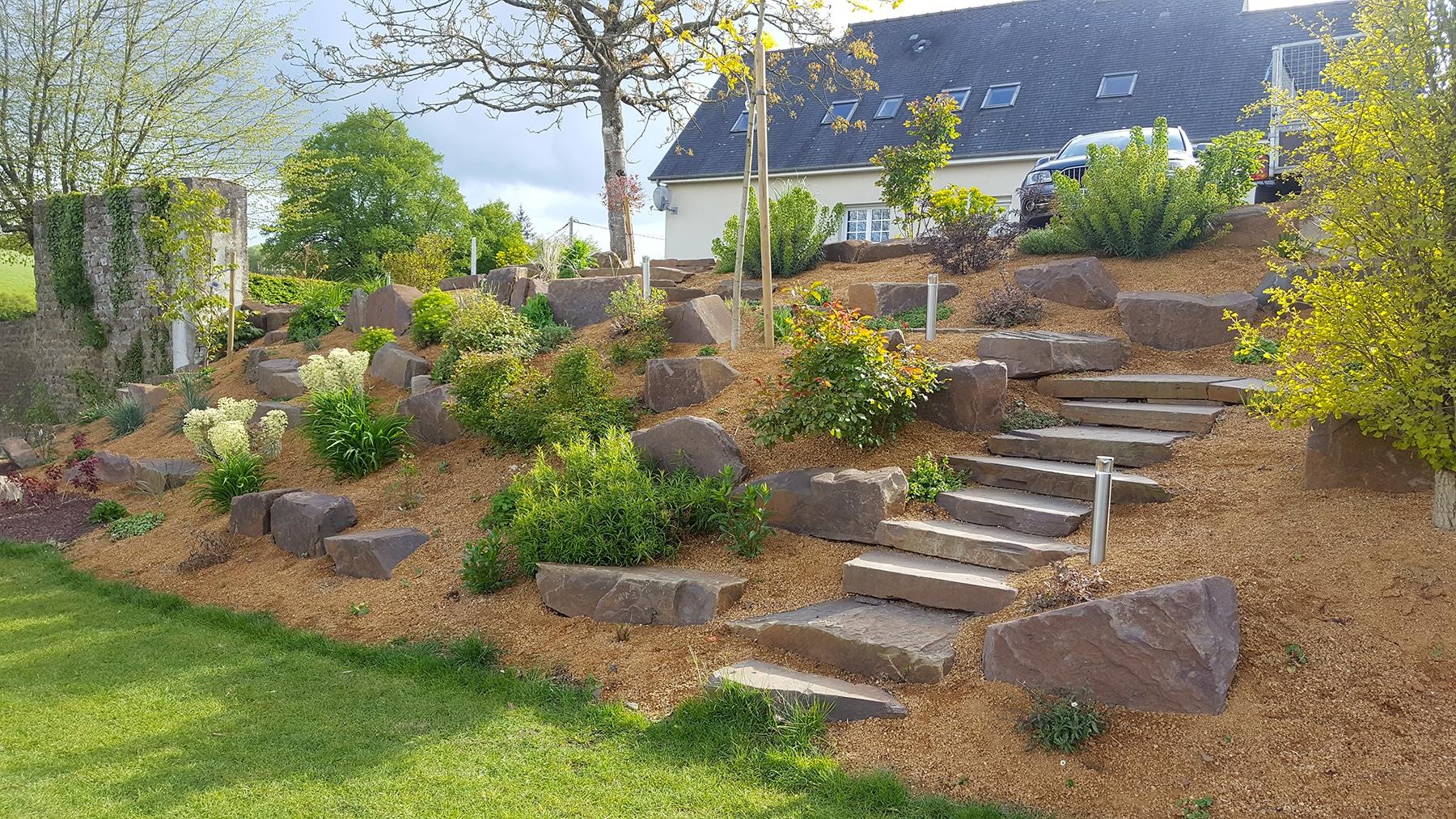 Rocaille De Jardin - Plante De Rocaille | Paysages Conseil dedans Amenagement Jardin Avec Pierres
