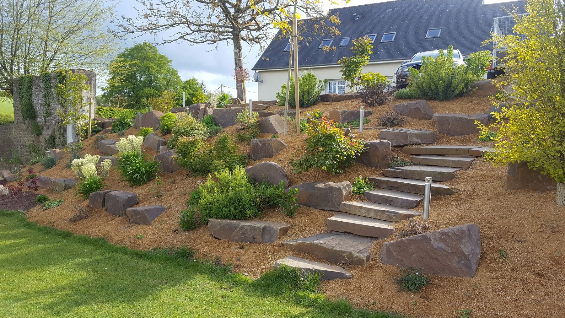 Rocaille De Jardin - Plante De Rocaille | Paysages Conseil dedans Exemple D Aménagement De Jardin