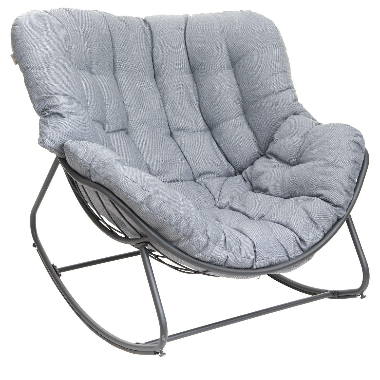 Rocking Chair De Jardin Paopao - Gris Graphite - Toilinux concernant Chaise De Jardin Hesperide