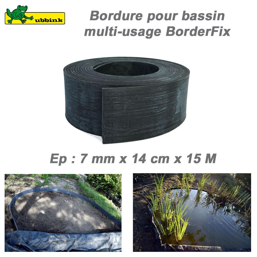 Rouleau 14 Cmx15 M Bordure Boderfix Bâche Bassin serapportantà Bordure De Jardin En Plastique