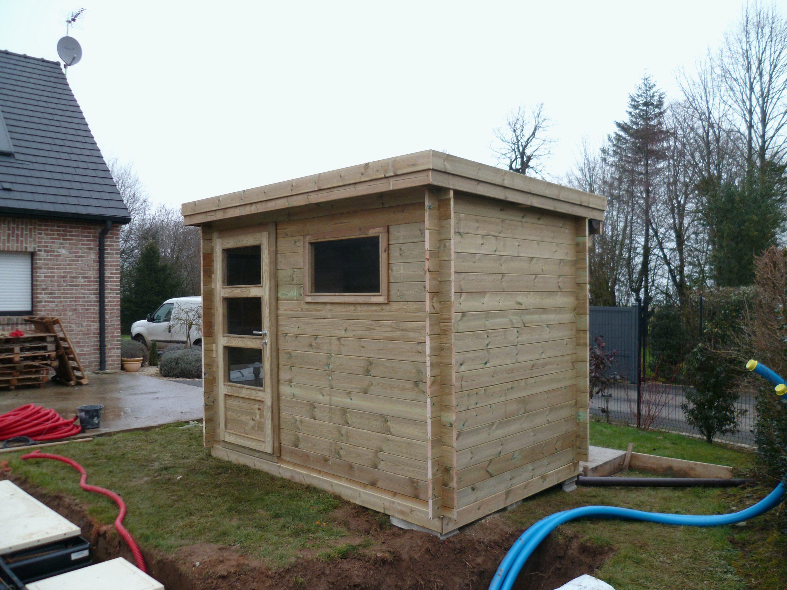 Rouleau Bitume Toiture Abri De Jardin Inspirant Gnial ... avec Construire Une Cabane De Jardin