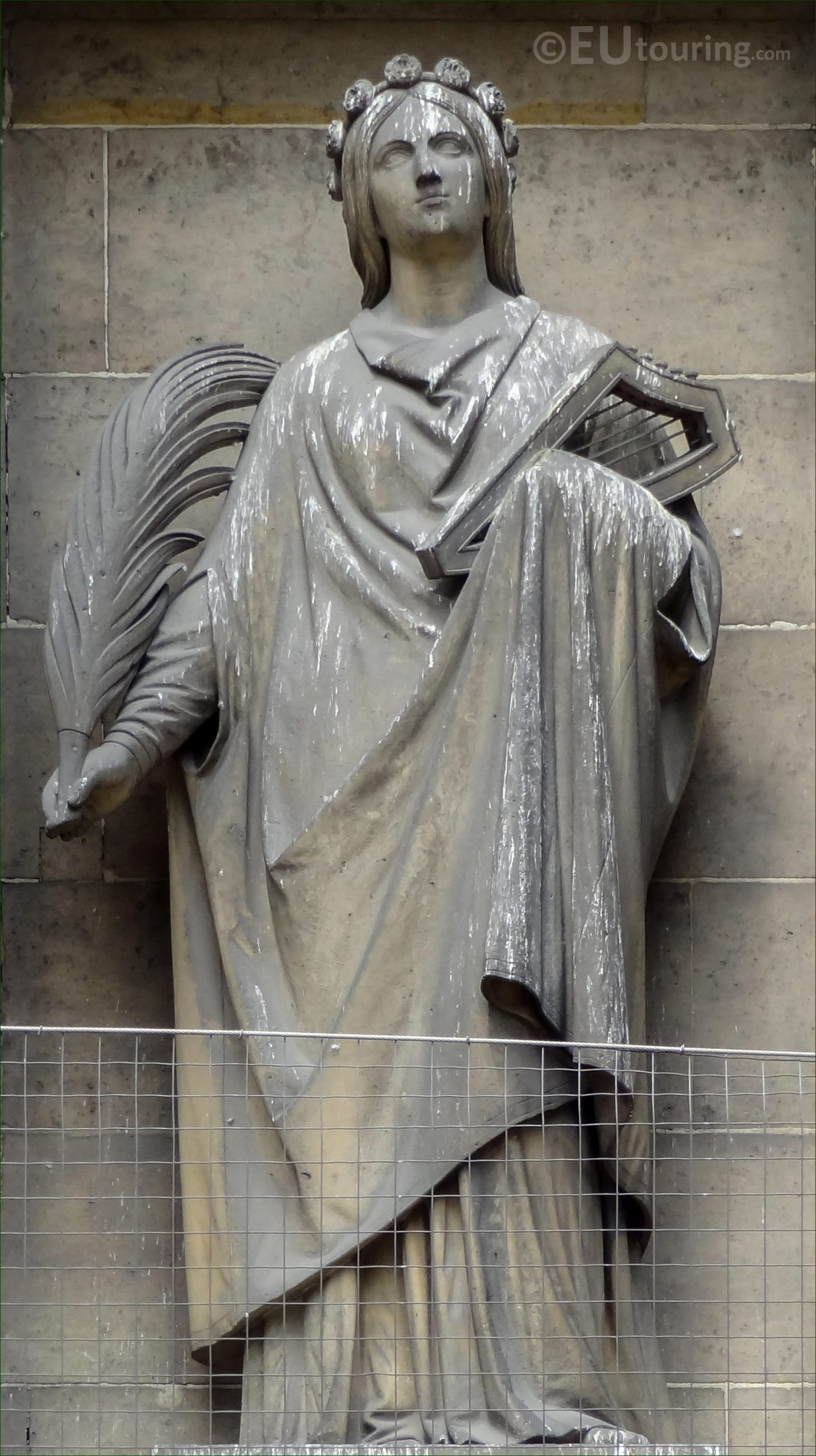 Sainte Cecile Statue On Eglise De La Madeleine In Paris ... tout Statue De Jardin D Occasion