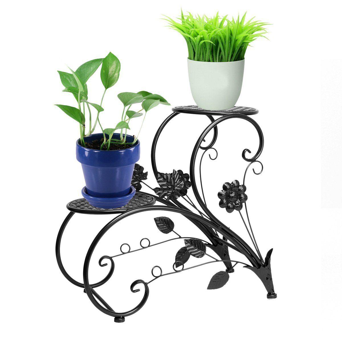 Saksı Demir Desteği / Bonsai Bahçe Dekorasyon Siyah: Amazon ... tout Bache Noire Jardin