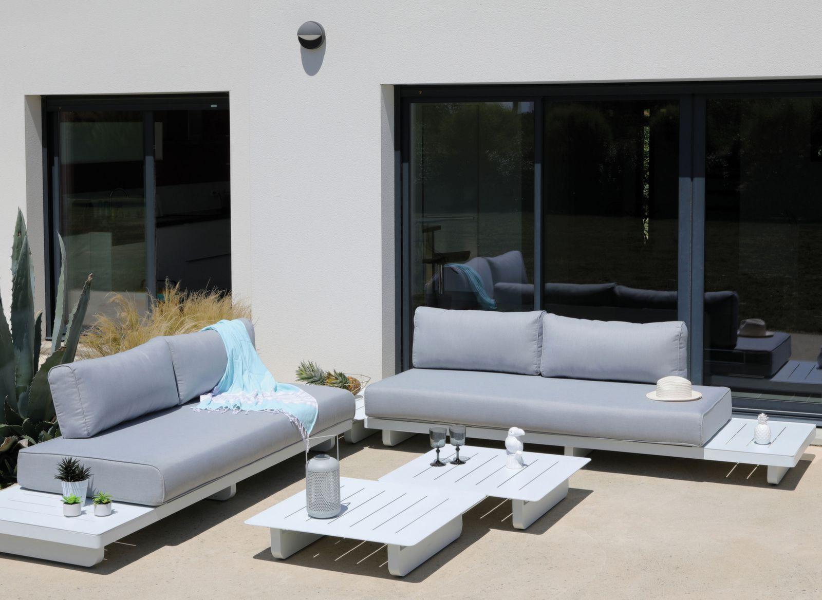 Salon Bas De Jardin Sur Iziva - Iziva avec Salon De Jardin D Angle Pas Cher