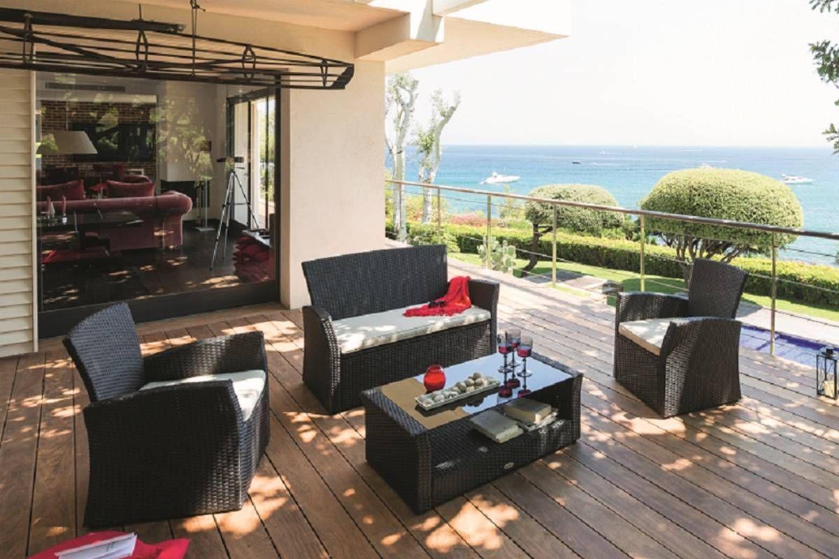 Salon Bora Bora Réglisse | Mobilier De Jardin Design ... concernant Salon De Jardin Bora