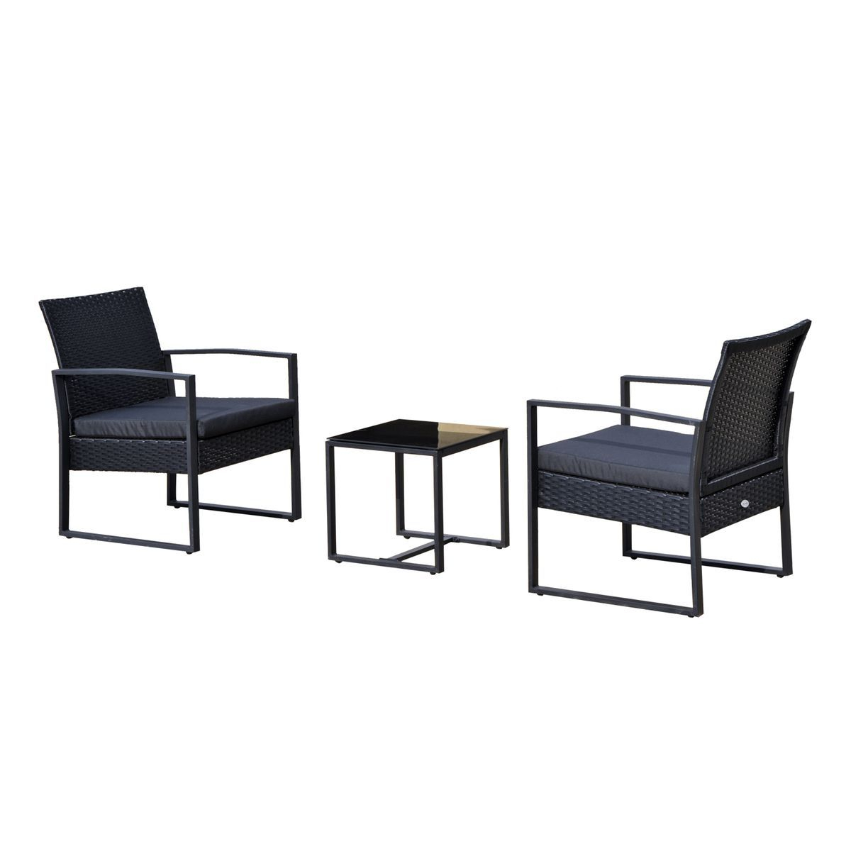 Salon De Jardin 2 Places Avec Table Basse Noir - Taille : 4 ... à Kettler Mobilier De Jardin