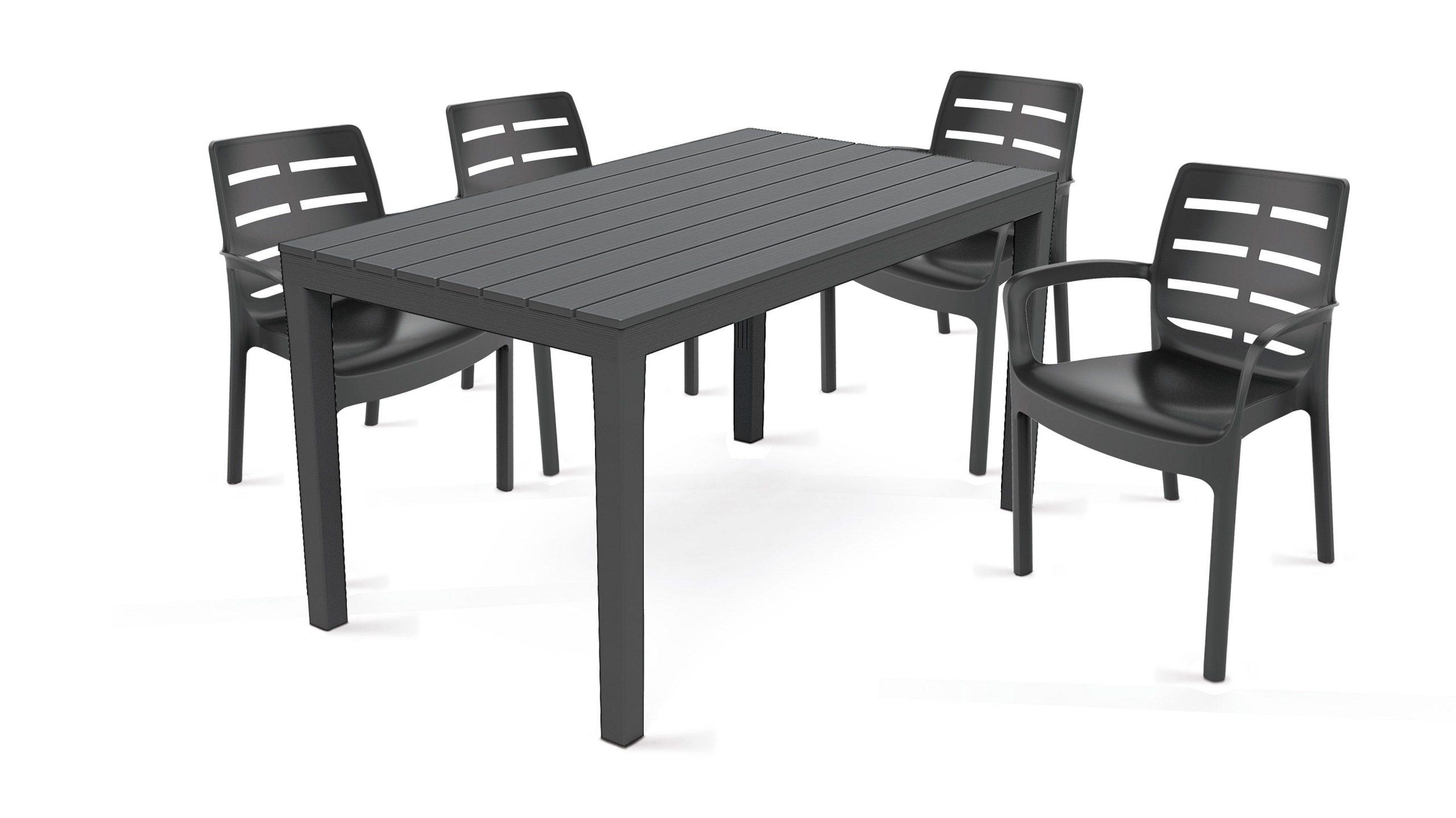 Salon De Jardin 4 Places En Plastique avec Table Et Chaise De Jardin Pas Cher En Plastique