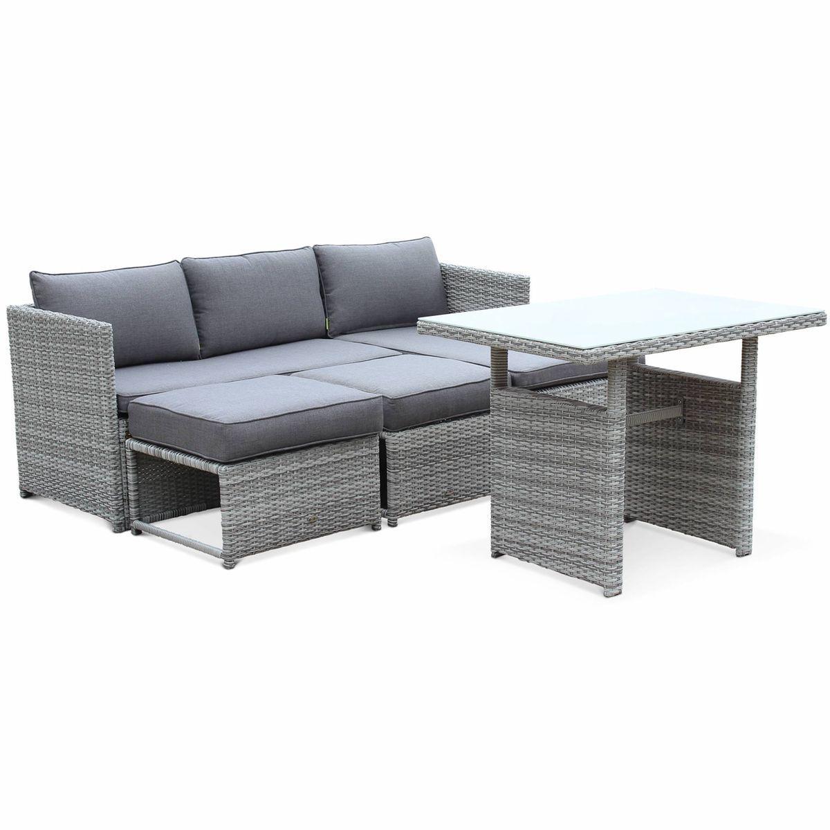 Salon De Jardin 6 Places - Reggiano - Table De Jardin Avec ... dedans Table De Jardin Aluminium Jardiland