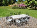 Salon De Jardin Alice S Garden Table 200Cm 8 Places - Salon ... intérieur Salon De Jardin Mosaique