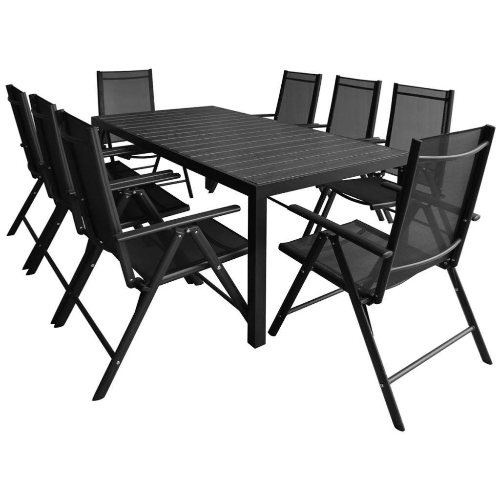 Salon De Jardin Aluminium/composite Pour 8 Personnes serapportantà Salon De Jardin Aluminium Et Composite
