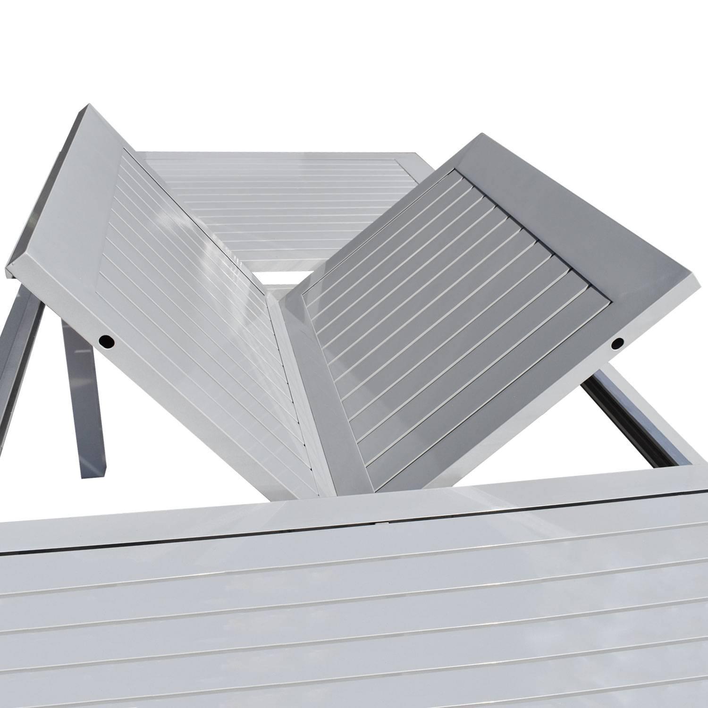 Salon De Jardin Aluminium Et Textilène Extensible Noir 8 Places à Salon De Jardin Aluminium Et Composite
