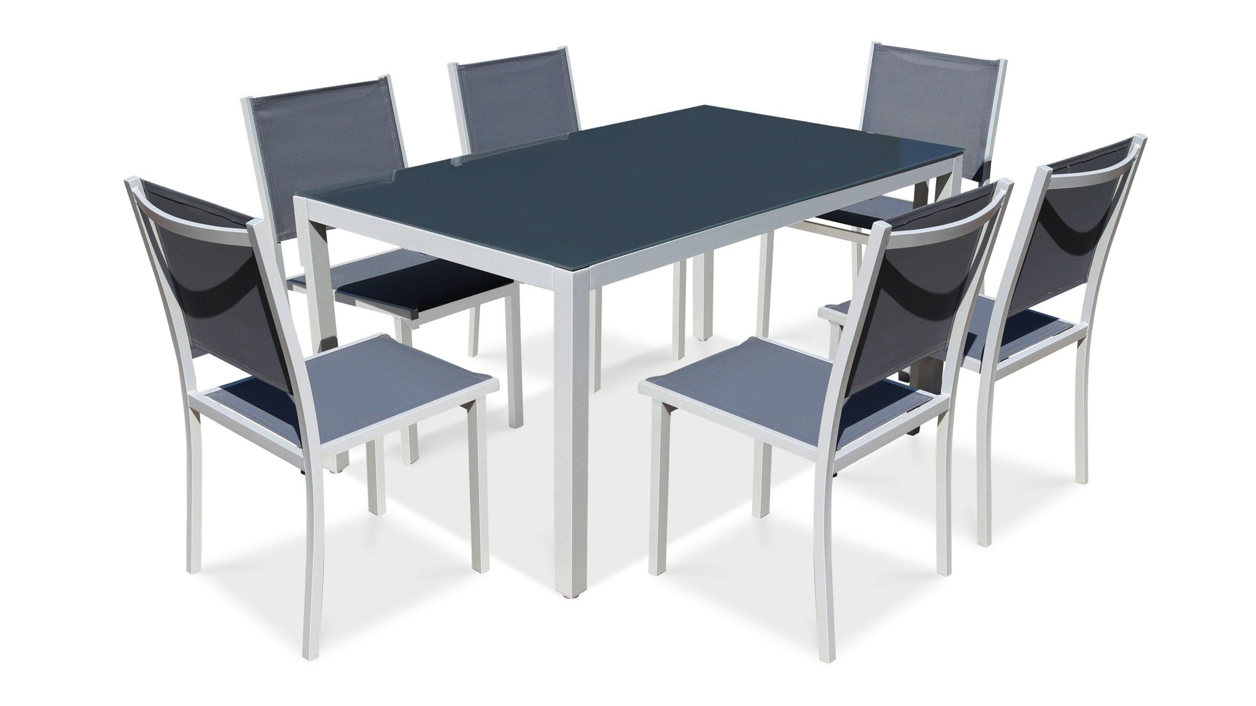 Salon De Jardin Aluminium Table De Jardin 6 Places avec Table Et Chaise De Jardin En Aluminium