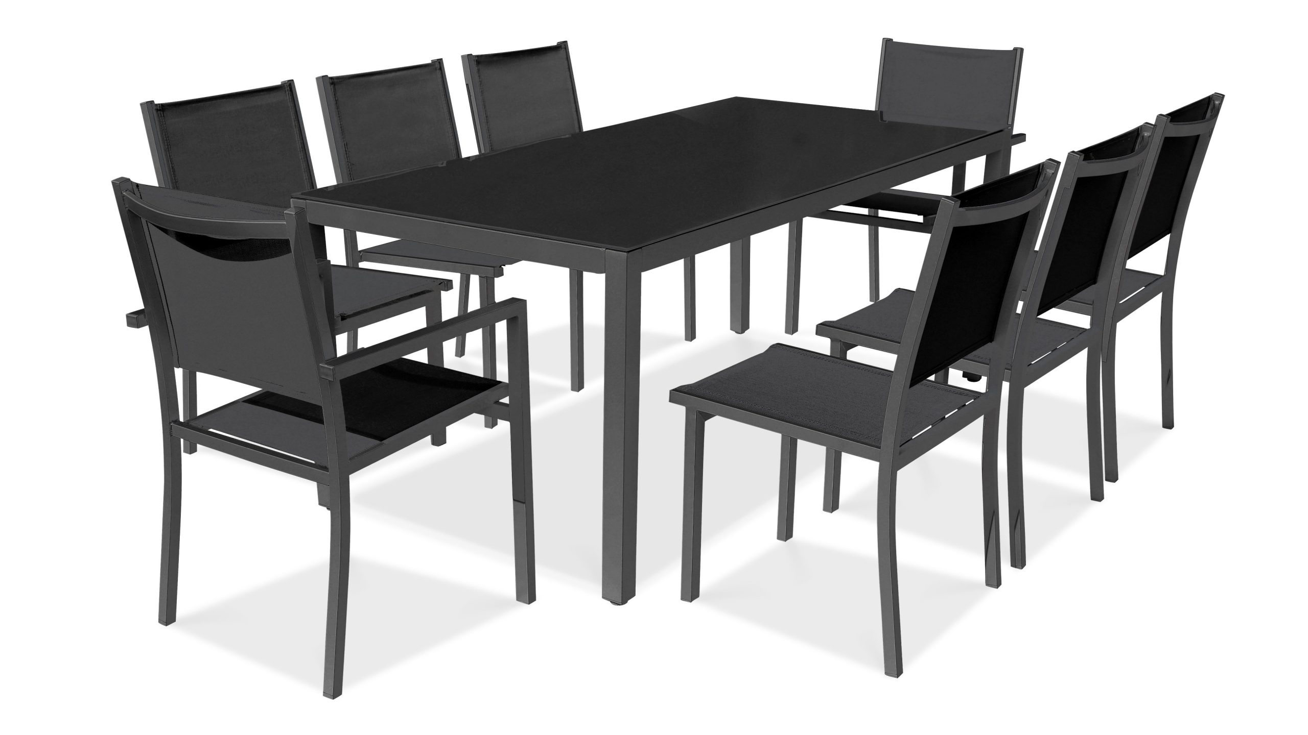 Salon De Jardin Aluminium Table De Jardin 8 Places concernant Ensemble Table De Jardin Promotion