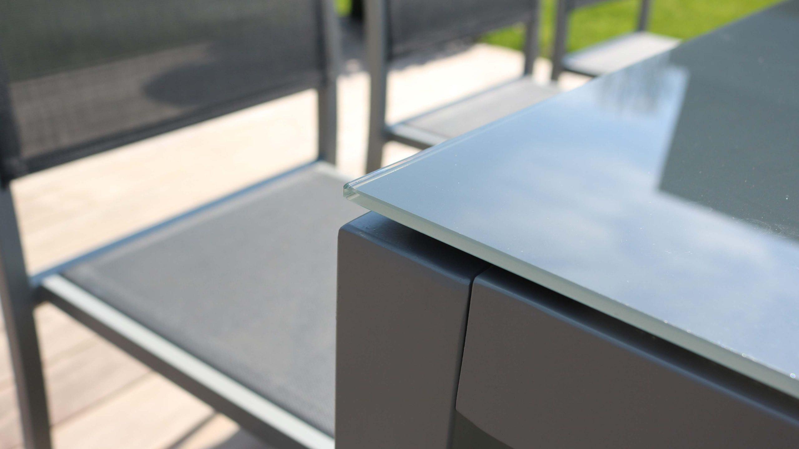 Salon De Jardin Aluminium Table De Jardin 8 Places intérieur Table De Jardin Dessus Verre