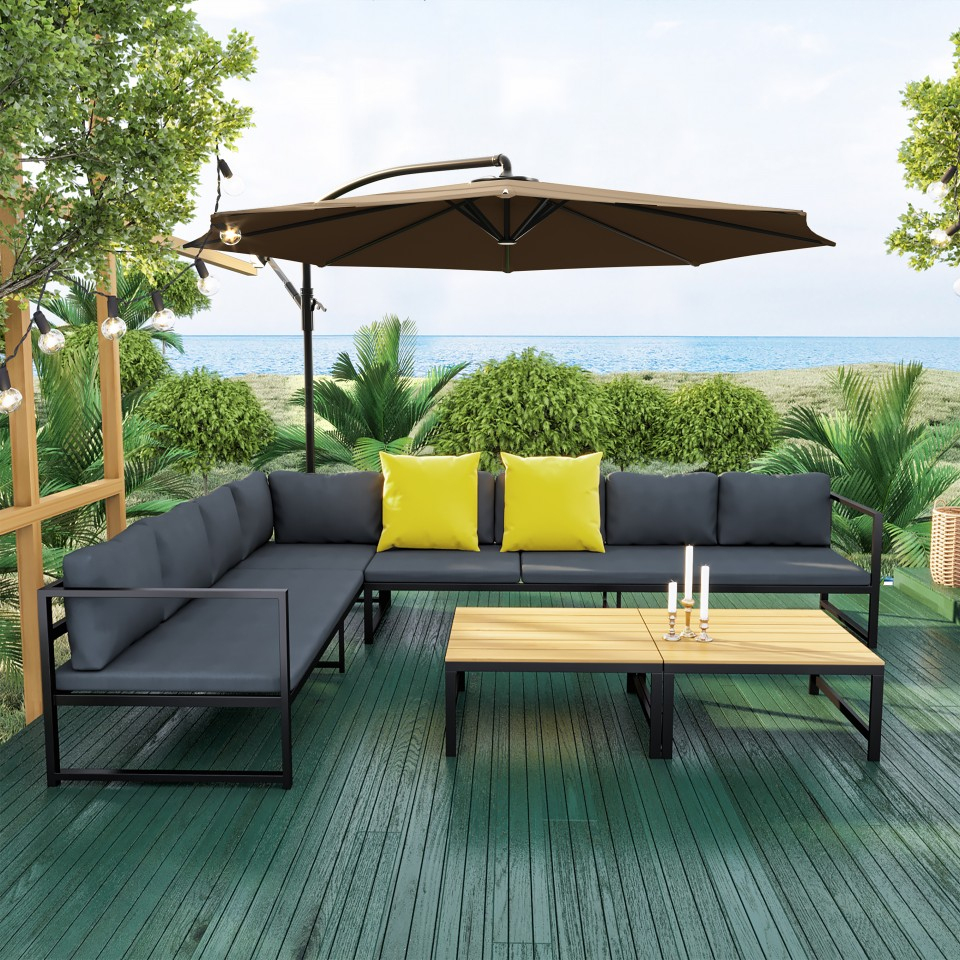 Salon De Jardin Angle Aluminium - The Best Undercut Ponytail concernant Salon De Jardin Romantique