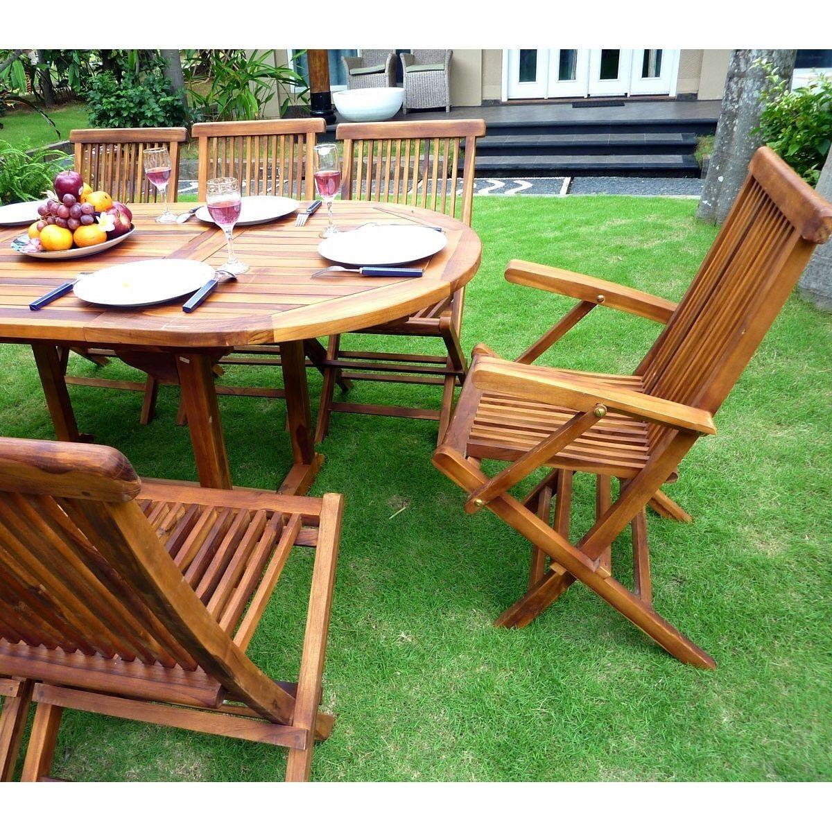 Salon De Jardin Bali En Teck Huilé - 8 Places - Taille : 8 ... avec Tonnelle De Jardin Auchan