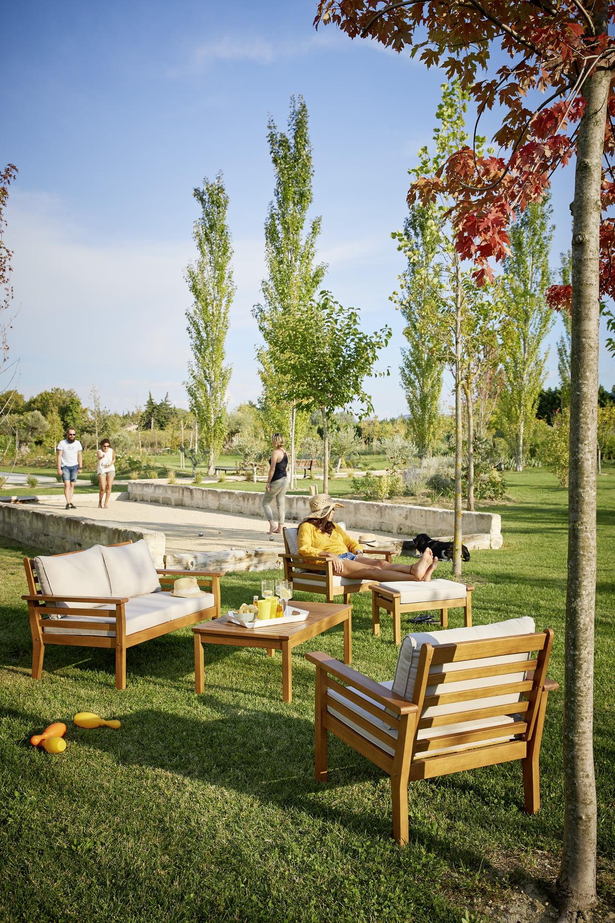 Salon De Jardin Bas Jakarta De Carrefour destiné Salon De Jardin Pas Cher Carrefour