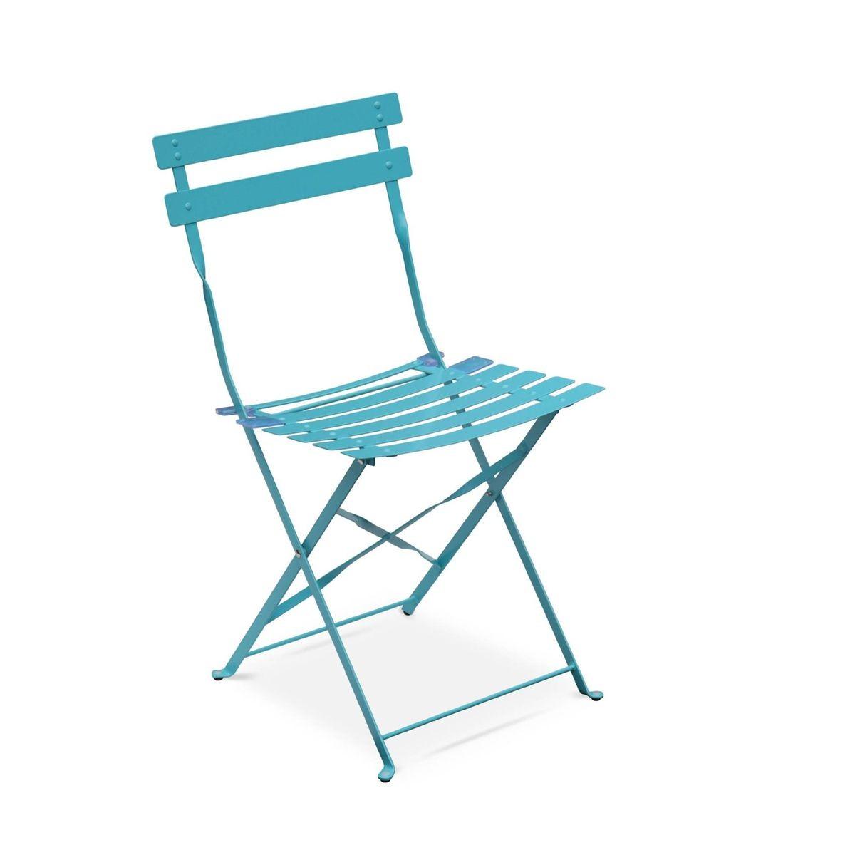 Salon De Jardin Bistrot Pliable Emilia Rectangulaire , Avec ... encequiconcerne Chaise Bistrot Aluminium Jardin