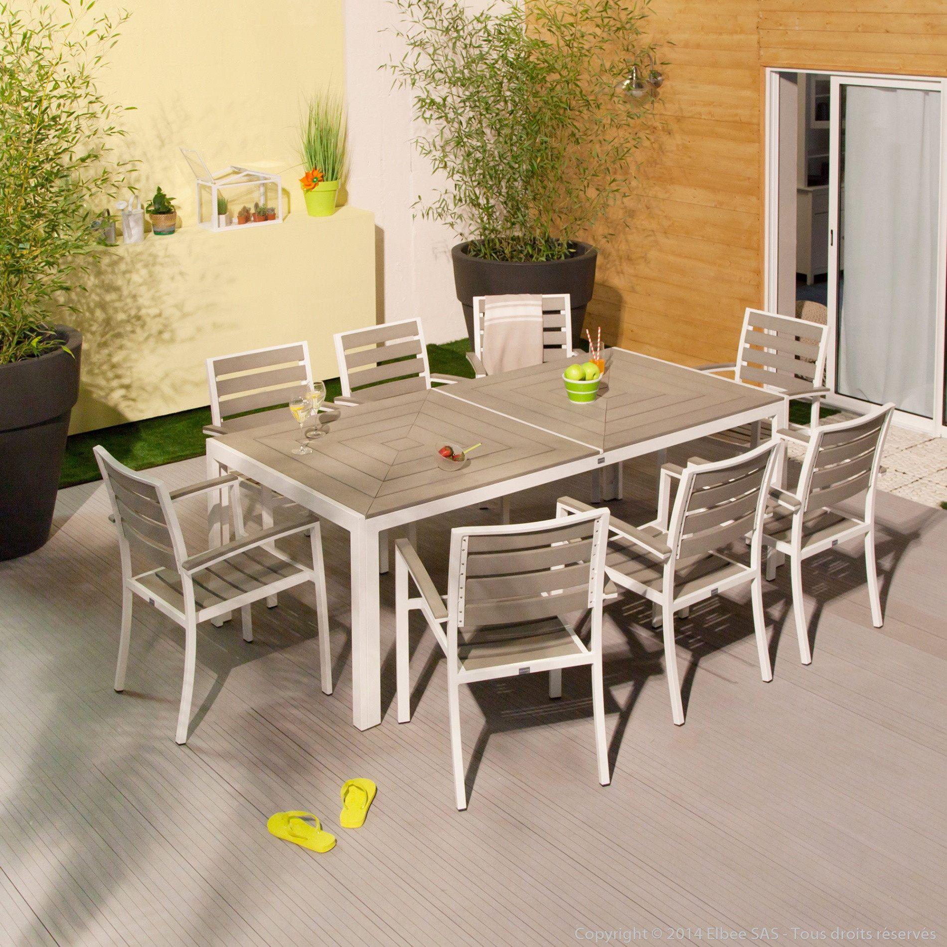 Salon De Jardin Blanc Plastique Unique Table Terrasse Pas ... dedans Salon De Jardin En Plastique Pas Cher