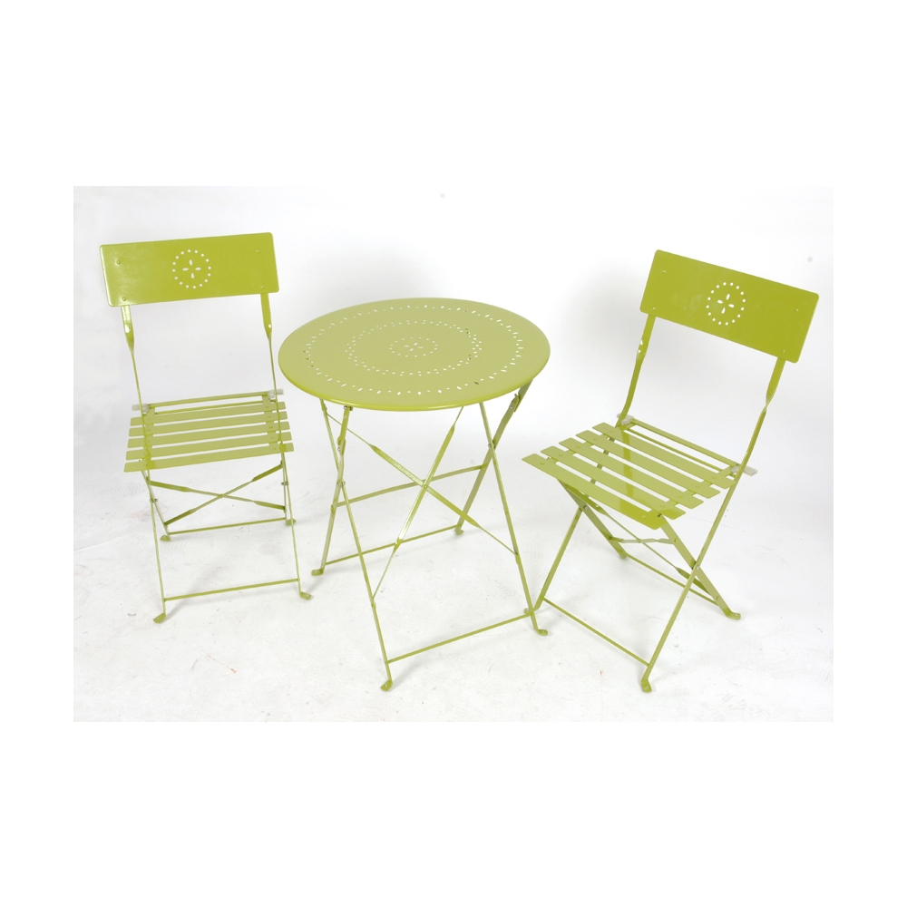 Salon De Jardin Crépuscule Pliant 2 Personnes Coloris Vert Anis avec Salon De Jardin Vert Anis