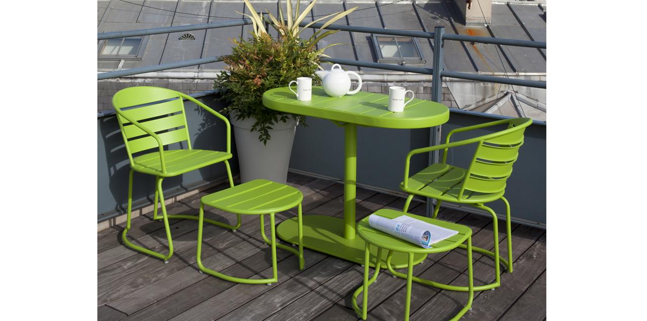 Salon De Jardin Design, Nature Ou Coloré : Les Nouveautés ... intérieur Truffaut Table De Jardin