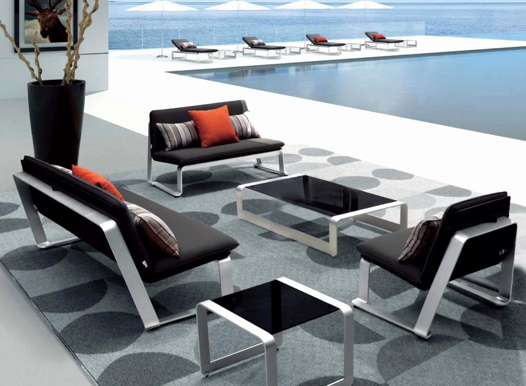 Salon De Jardin En Aluminium Salon De Jardin Aluminium En ... pour Table De Jardin En Solde